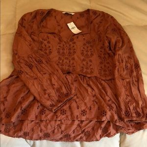 American eagle orange eyelet tunic